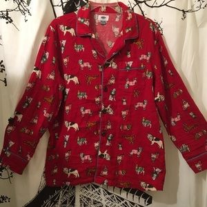 Old Navy Christmas Dogs Flannel PJ Set